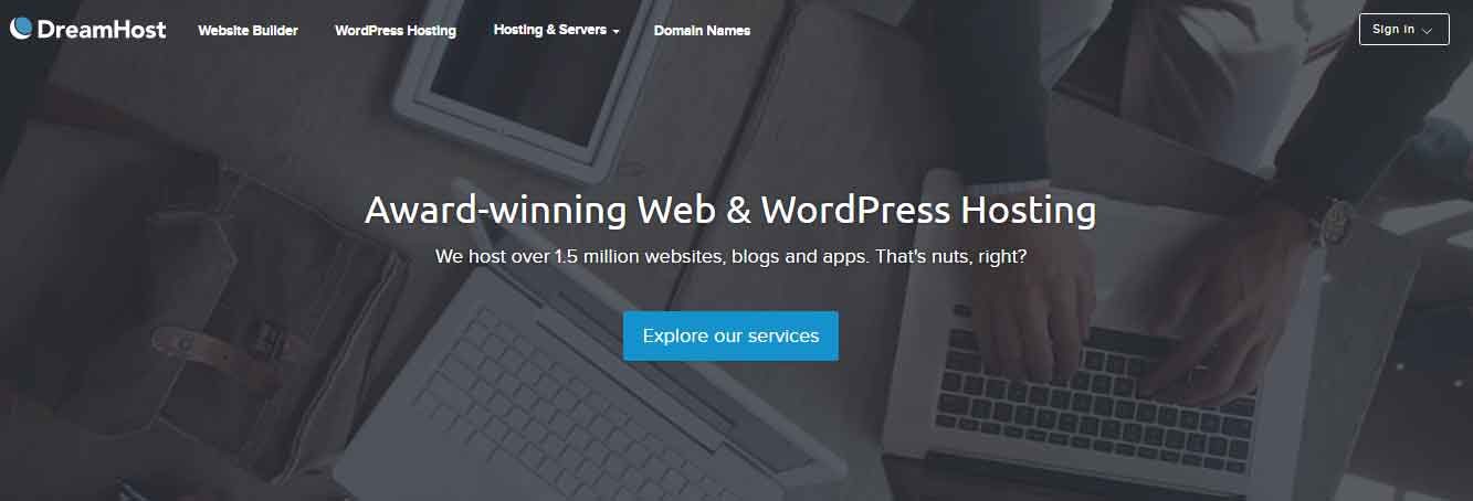 DreamHost - Unlimited sites, Bandwidth and server space