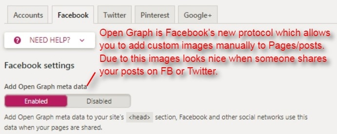 enable Facebook open graph protocol which allows you to add custom images manually on Pages and posts on your blog