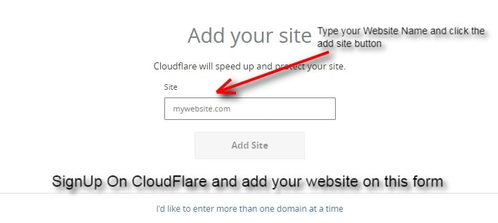 add your website by using this cloudflare form