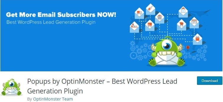OptinMonster is a helpful plugin to get more subscribers to your website