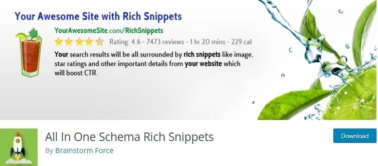 all in one schema rich snippets plugin