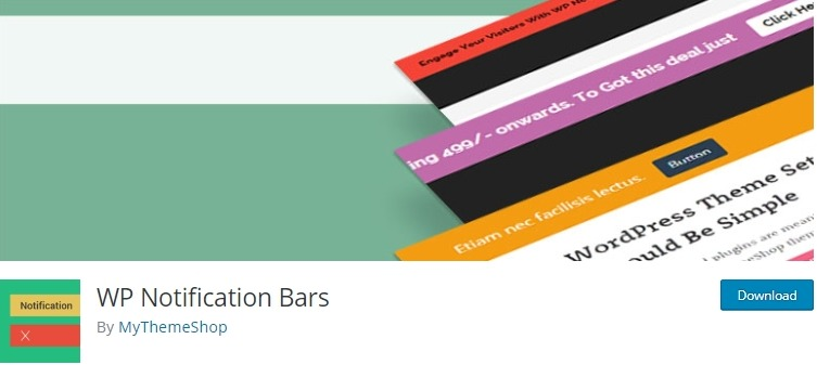 wp notification bars plugin is an best notification plugin for wordpress website