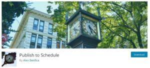 schedule plugin