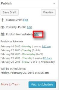 edit to schedule