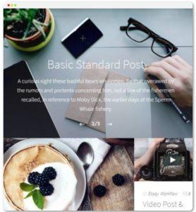 Sleek WordPress theme