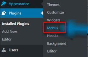 menus widget