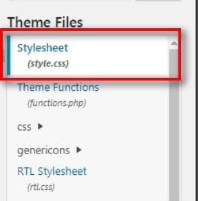stylesheet