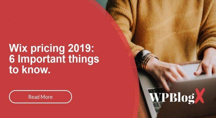 Wix Pricing 2019